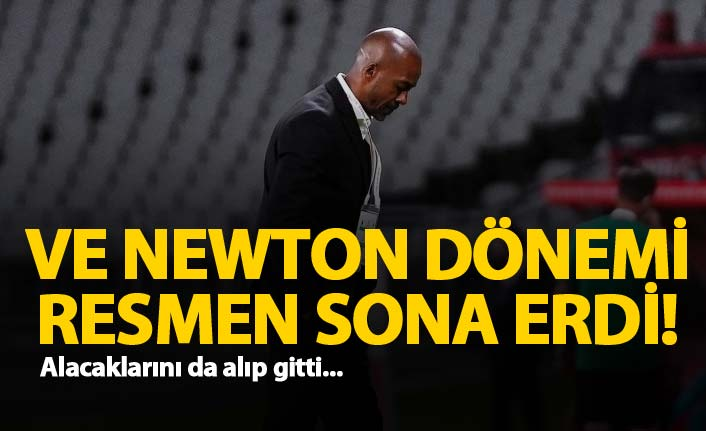 Trabzonspor'da Newton resmen gönderildi