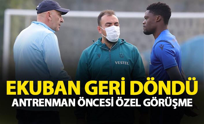 Trabzonspor'un yıldızı takıma döndü! Derelioğlu özel görüştü