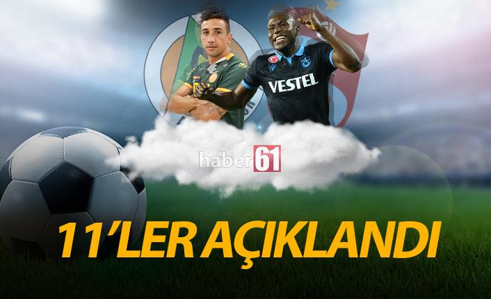 Alanyaspor Trabzonspor maçı 11'leri açıklandı