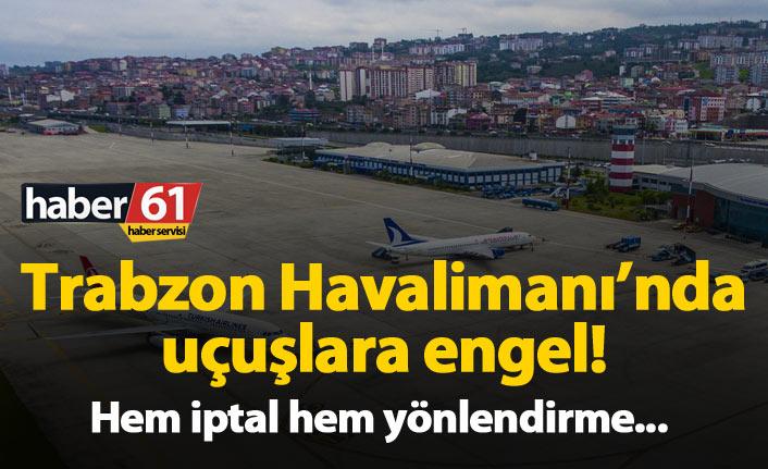 Trabzon Havalimanında uçuşlara ışıklandırma engeli