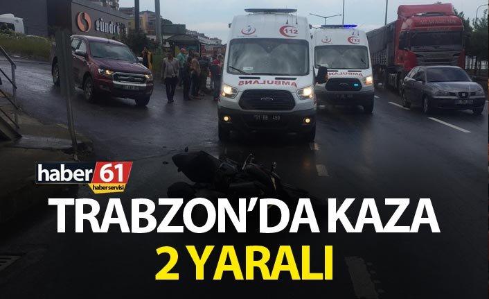 Trabzon'da kaza – 2 yaralı
