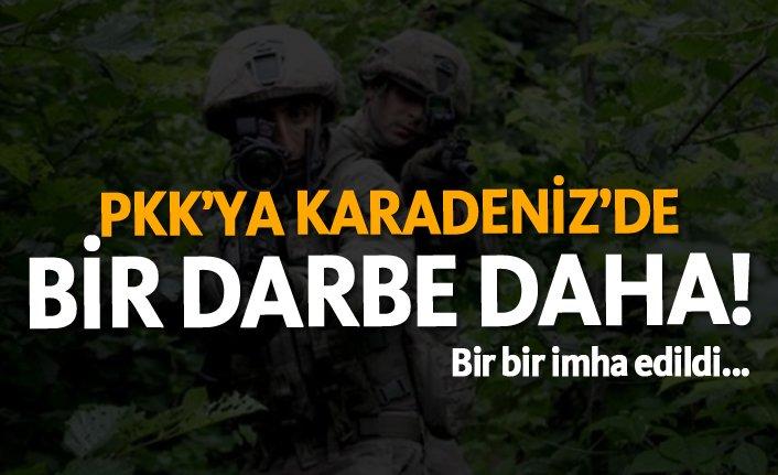PKK'ya Karadeniz'de bir darbe daha! Bir bir imha edildi...