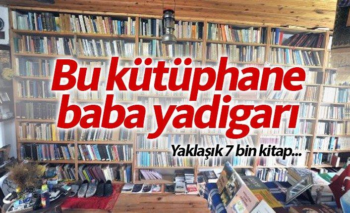 Maçka'da baba yadigarı kütüphane