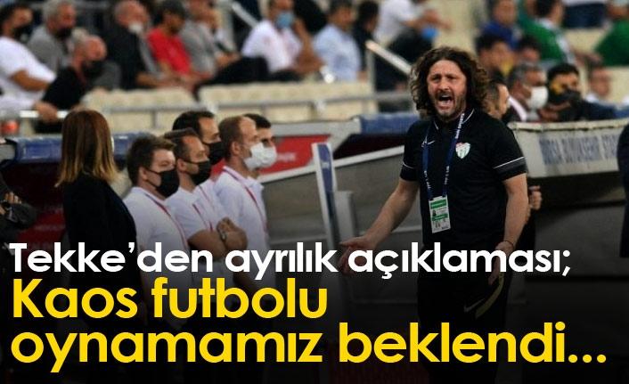 Fatih Tekke'den ayrılık açıklaması: Kaos futbolu oynatmamız beklendi