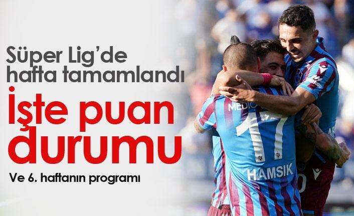 Süper Lig 5. Hafta Sonuçları ve Süper Lig Puan Durumu