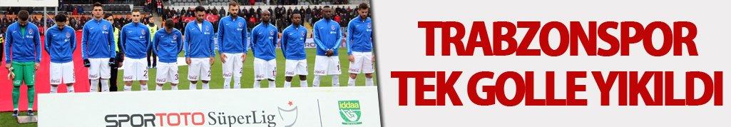 Trabzonspor tek golle yıkıldı!