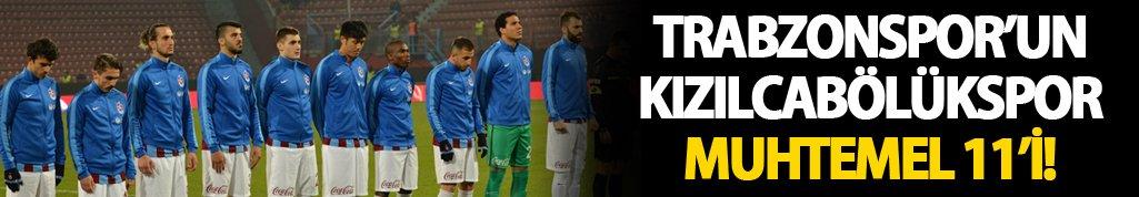 Trabzonspor'un Kızılcabölükspor Muhtemel 11'i!