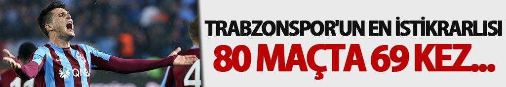 Trabzonspor'un en istikrarlısı: 80 maçta 69 kez...