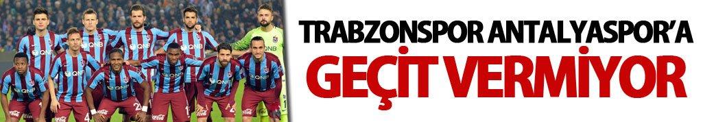 Trabzonspor Antalyaspor'a geçit vermiyor