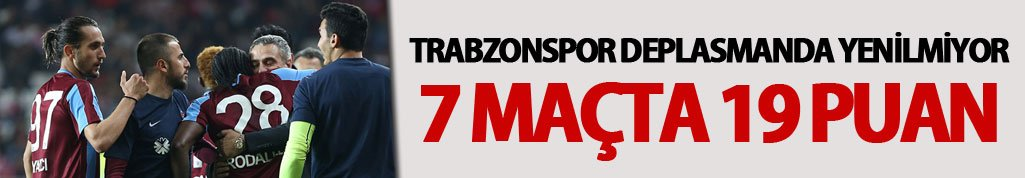Trabzonspor deplasmanda yenilmiyor: 7 maçta...