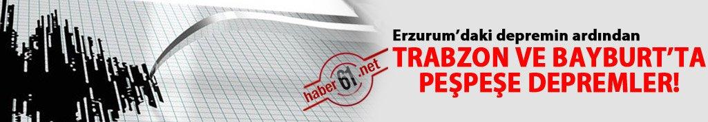 Trabzon ve Bayburt'ta deprem oldu!