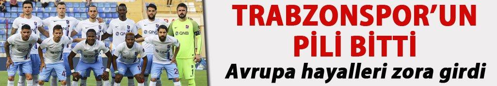 Trabzonspor'un Avrupa Hayali zora girdi