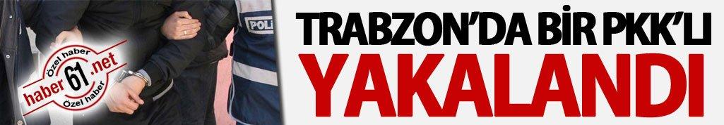 Trabzon'da bir PKK'lı yakalandı