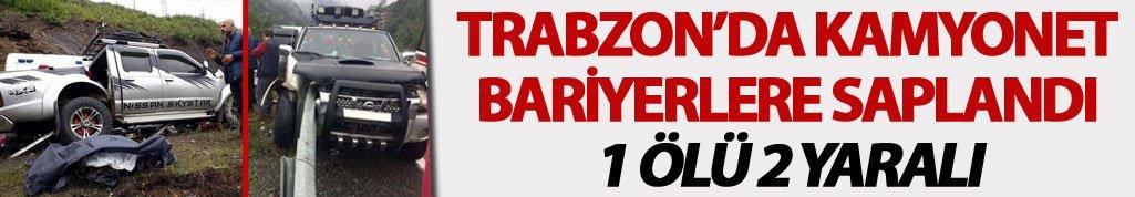 Trabzon'da kaza: 1 Ölü 2 yaralı