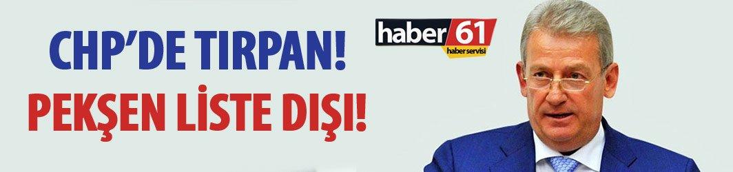 Flaş! CHP Trabzon milletvekili Haluk Pekşen liste dışı