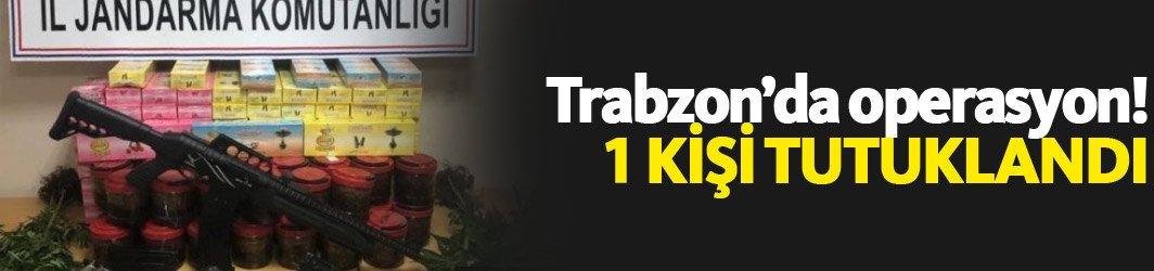Trabzon'da uyuşturucu operasyonu: 1 kişi tutuklandı