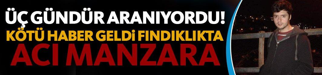 Trabzon'da 3 gündür kayıp genç ölü bulundu