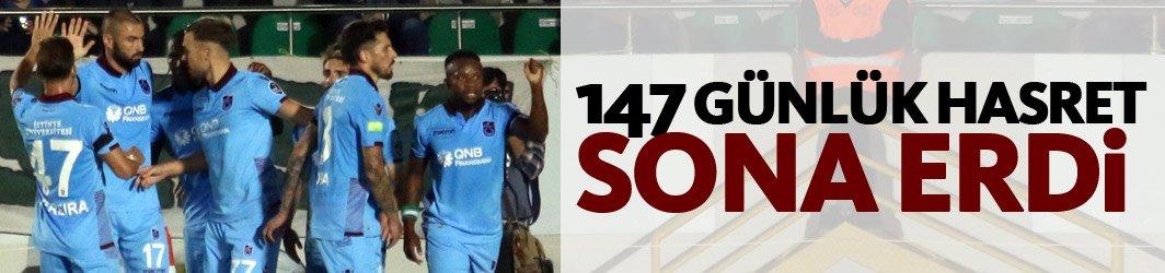 Trabzonspor'da 147 günlük hasret sona erdi