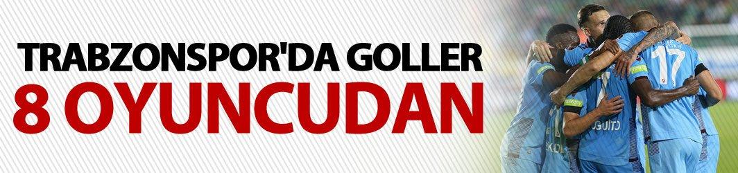 Trabzonspor'da goller 8 oyuncudan