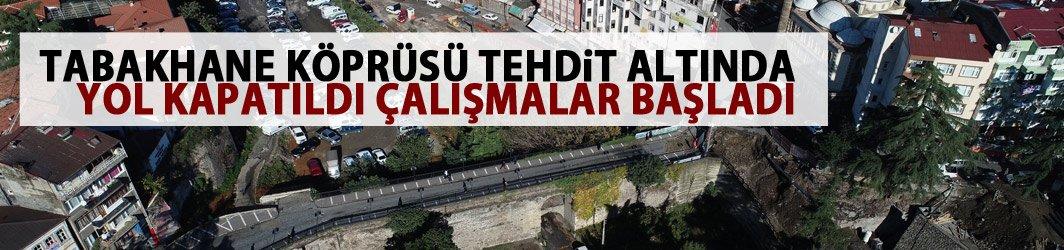 Trabzon'un merkezindeki tarihi köprü risk altında