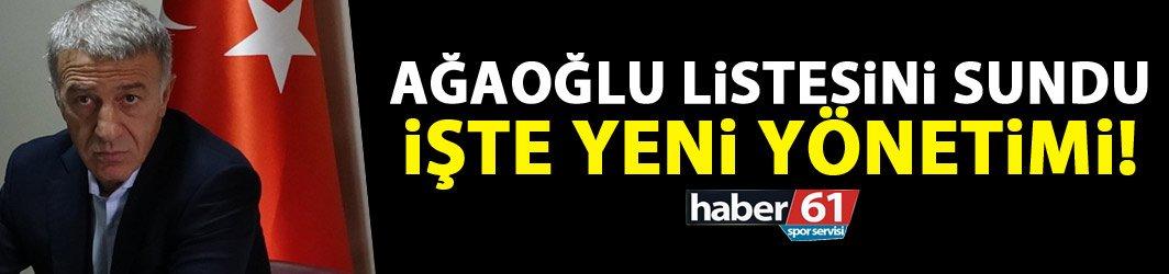 Ahmet Ağaoğlu listesini bugün sundu
