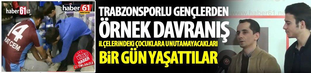 Trabzon'un Düzköy ilçesinin gençlerinden örnek davranış
