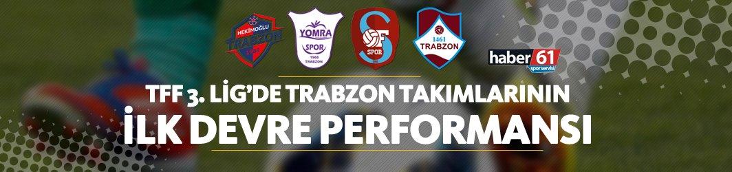 TFF 3. Lig'de Trabzon takımlarının ilk devre performansı