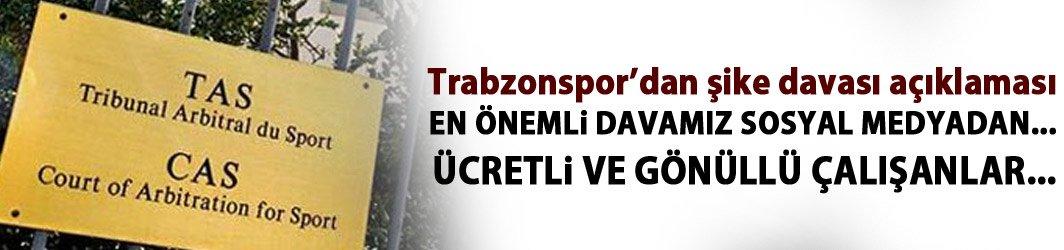 Trabzonspor'dan şike davası açıklaması! İşte harcanan tutar!