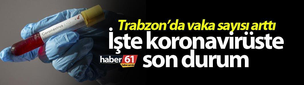 Trabzon'da vaka sayısı arttı – İşte koronavirüste son durum