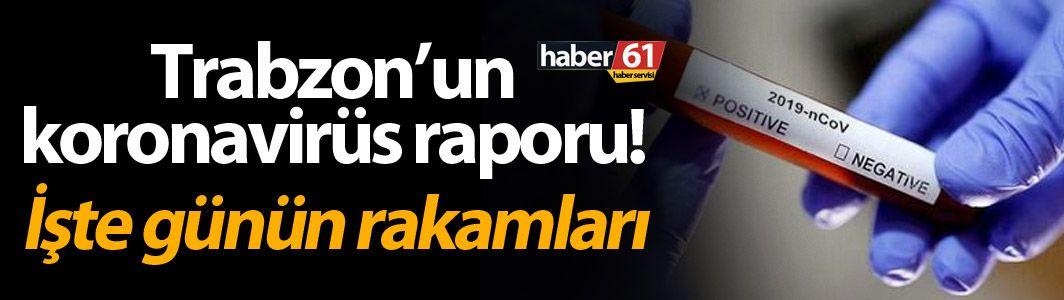 Trabzon'un koronavirüs raporu! İşte günün rakamları