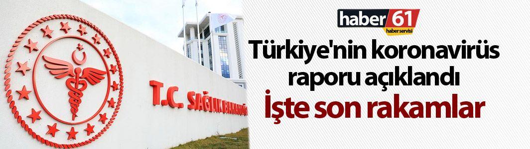 Türkiye'nin koronavirüs raporu açıklandı