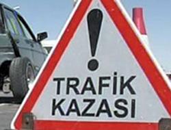 Trabzon plakalı kamyonda kaza!