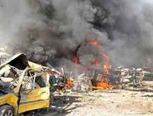 Suriye'de korkutan patlama