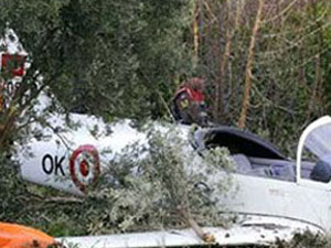 İzmir'de keşif uçağı düştü!
