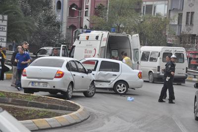 Trabzon Çömlekçi'de korkutan kaza