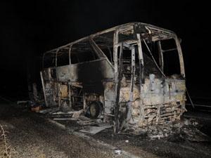 PKK otobüs yaktı