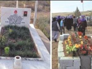 İki kuzenin mezarı yan yana