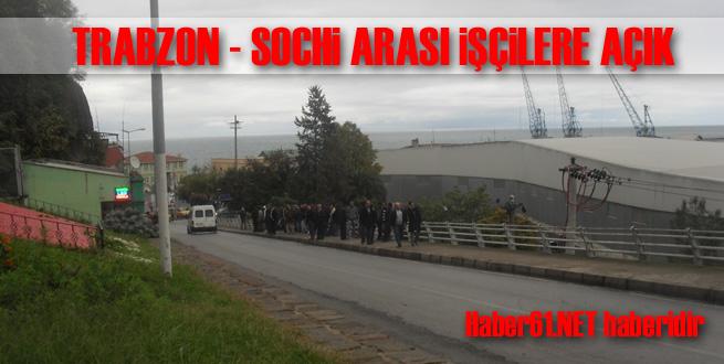 Trabzon işçilerin yolu oldu!
