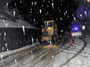 Trabzon'da kar temizleme çalışmaları