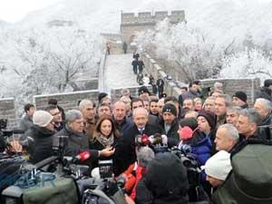 CHP lideri Kılıçdaroğlu Çin Seddini Gezdi