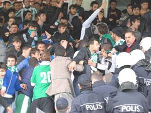 Rize'de Amatör maçta olaylar çıktı