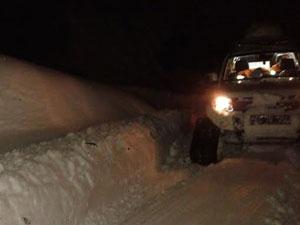 Trabzon'da kar ambulansı iş başında!