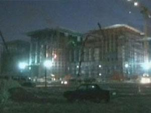 Başbakanlık binası inşaatında şok