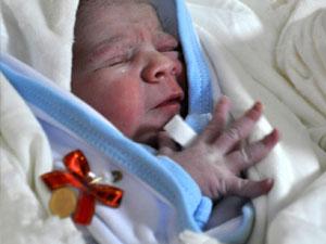 Trabzon'da yılın ilk bebeği doğdu!