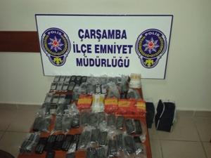 96 tane kaçak cep telefonu ele geçirildi
