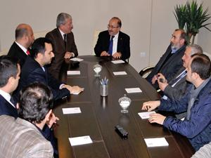 Başkan Gümrükçüoğlu MÜSİAD'ı ziyaret etti