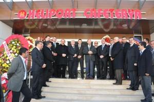 Heliport Kafeterya hizmete açıldı.