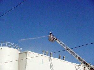 Ham madde fabrikasında korkutan yangın