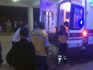 Trabzon talihsiz adamın başına direk düştü