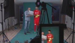 Trabzonsporlu futbolcuların fotoğraf çekimlerinin...